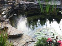 kamień ogrodowy kaskada i oczko wodne