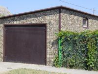 Garaż - łupek elewacyjny